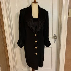 Vintage Tiffani Kim Black Silk Cocktail Dress. 10